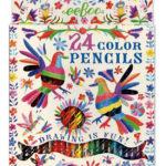eeBoo 24色鉛筆(紙盒) - 彩虹鳥(Oaxaca Birds)