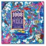 eeBoo 1008片家庭式拼圖 - 海底世界 (Below the surface -1008 piece puzzle)