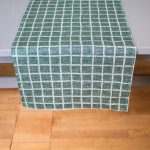 北歐風設計師款 - 格子桌旗, 墨綠 Rutig Table Runner, Green