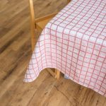 北歐風設計師款 - 格子桌巾, 紅色 (147X147cm) Rutig Tablecloth, Red