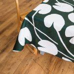 北歐風設計師款 - 荷花桌巾, 深綠 (147X250cm) Water lilies Tablecloth, Green