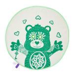 BU! BLANKIE 躲貓貓有機棉毯 - 泰迪熊綠(綠邊) Teddy Green / Green