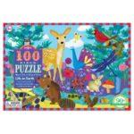eeBoo 拼圖 -- Life on Earth 100 Piece Puzzle 可愛生物 (100片)