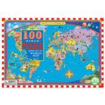 eeBoo 拼圖 -- World Map 100 Piece Puzzle 世界地圖 (100片)
