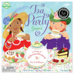 eeBoo 桌遊 -- Tea Party Game下午茶 - 藍底白點桌布