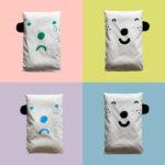 表情枕頭套 (藍) - Happy/Sad pillow case (Blue)