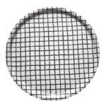 圓型托盤-RUTIG TRAY, WHITE/BLACK (38cm)