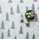 北歐風設計師款 - 冷杉桌巾(147X147cm) Gran Tablecloth, Dark Green