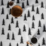 北歐風設計師款 - 冷杉桌巾(147X147cm) Gran Tablecloth, Black