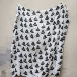 有機棉紗布包巾(帆船 - 黑白) - BOAT BOAT MUSLIN BLANKET