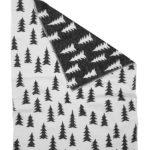 森林有機棉提花刷毛毯 (黑白) - GRAN WOVEN CHILD BLANKET (Black & white)