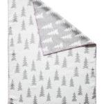 森林有機棉提花刷毛毯 (灰白 + 粉邊) - GRAN WOVEN CHILD BLANKET (grey / pink edge)