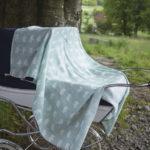有機棉紗布包巾(森林小熊 - 淺藍綠) - BJÖRN MUSLIN BLANKET