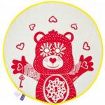 BU! BLANKIE 躲貓貓有機棉毯 - 泰迪熊紅(黃邊) Teddy Red / Yellow