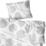 有機棉被套枕套兩件組 - WATER LILIES BED SET, GREY