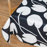 北歐風設計師款 - 荷花桌巾, 午夜藍 (147X250cm) Water lilies Tablecloth, Night Blue