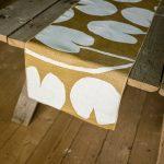 北歐風設計師款 - 荷花桌旗, 芥末黃 Water lilies Table Runner, Mustard
