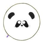 BU! BLANKIE 躲貓貓有機棉毯 - 胖達 (綠邊) Panda Green