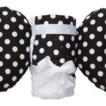 Baby Elephant Ear - 護頸枕 + 親膚毛毯 套組 (14. Black Dot Ears + Blanket)