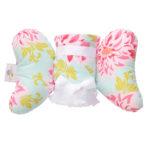 Baby Elephant Ear - 護頸枕 + 親膚毛毯 套組 (4. Dahlia Ears + Blanket)