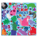 eeBoo 24色鉛筆(鐵盒) -- 阿咪家族 (Cats at Work Color Pencils)