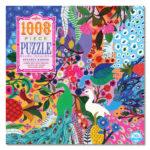 eeBoo 1008片家庭式拼圖 - 孔雀園  (peacock garden- 1008 piece puzzle)