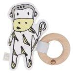 澳洲Kippins有機棉櫸木固齒器-史利特小猴(SPLITS KIPLET™ RATTLE)