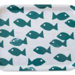 方型托盤-FISH TRAY, OCEAN (27 X 20 cm)